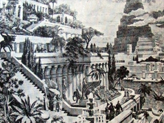 Here is a picture of the hanging gardens of Babylon.
